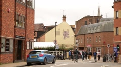 English Pub in Oxford, England, Europe - stock footage