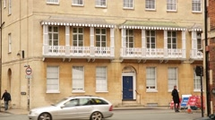 Traditional Oxford terrace house with balconies, England, Europe - stock footage