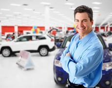 Car dealer. - stock photo