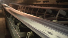 Conveyor belt with raw meal Stock Footage