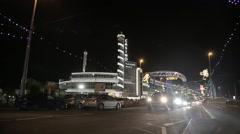 Blackpool Illuminations, UK - stock footage