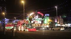 Blackpool Illuminations, UK Stock Footage