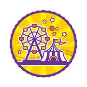 Amusement Park Emblem Piirros