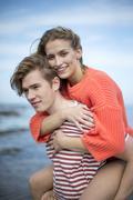 Romantic beach outing - stock photo