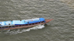 Ferry On The Chaophraya River In Bangkok Stock Footage