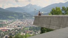 Viewpoint of the city of Innsbruck Stock Footage