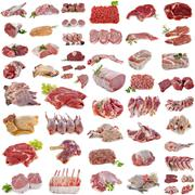 group of meat - stock photo