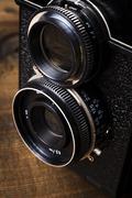 Lens Closeup - stock photo