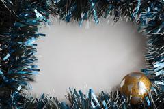 Christmas tinsel decorations Stock Photos