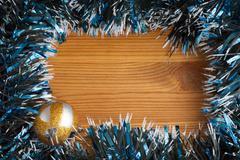 Christmas tinsel decorations - stock photo