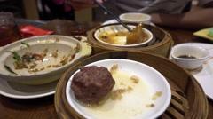 Leftover dim sum,waste,canton cuisine Stock Footage