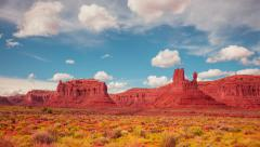 Time Lapse - Cloudscape Moving Over Monument Valley Stock Footage