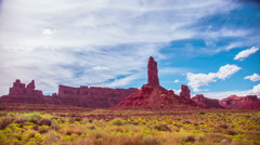 Time Lapse - Cloudscape Moving Over Monument Valley, Utah, USA - stock footage