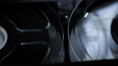 Rotation reels with tape on the video, audio tape recorder / player. Macro Stock Footage