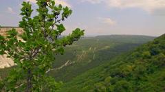 Russia, Crimea, the cave city Chufut-Kale Stock Footage