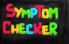 Symptom Checker Concept - stock illustration