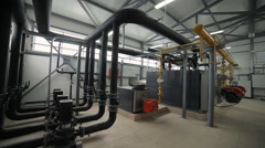 Technical Pipe Production Plant, the Boiler Room Stock Footage