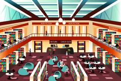 Modern looking library Stock Illustration