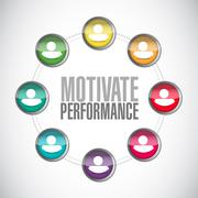 Motivate Performance connections sign concept - stock illustration
