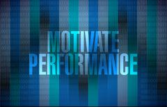 Motivate Performance binary background sign Stock Illustration