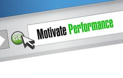 Motivate Performance web sign concept - stock illustration