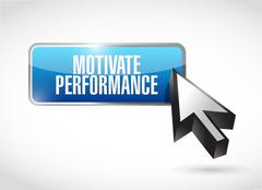 Motivate Performance button sign concept Stock Illustration
