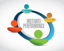 Motivate Performance network sign concept - stock illustration