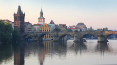 Prague, capital city of Czech Republic - stock footage