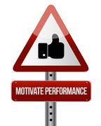 Motivate Performance like sign concept - stock illustration