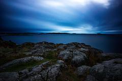 Archipelago in dusk Stock Photos