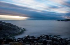 View over the baltic sea archipelago - stock photo