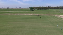 Camera aerial pan from a Polo match. Stock Footage