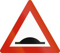 Norwegian road warning sign - Road bump Stock Illustration