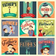 Stock Illustration of Father's day cards