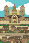 City scene Stock Illustration