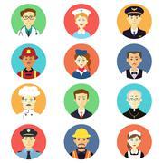 Profession icons Stock Illustration