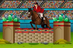 Equestrian in the competition Stock Illustration
