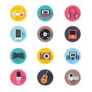 Stock Illustration of Multimedia Icons