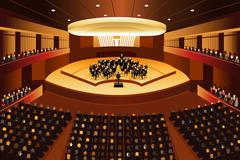 Classical Music Concert - stock illustration