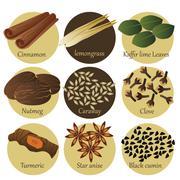 Herb Icons - stock illustration