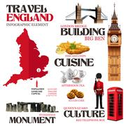 Infographic Elements for Traveling to England Stock Illustration