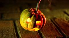 jack o lantern spooky creepy pumpkin halloween - stock footage