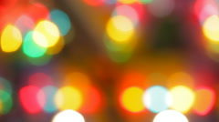 Glassy and colorful circular shapes, blurred lights - stock footage