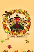 Thanksgiving Background - stock illustration