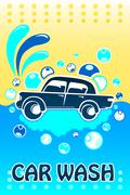 Car Wash Banner Piirros