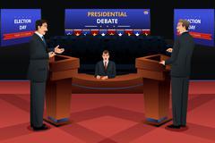Presidential Debate - stock illustration