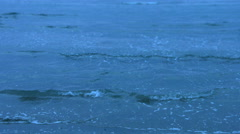 Tranquil cold sea waves splashing. Neverending deep blue water. Sad memories - stock footage