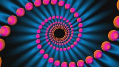 Hypnotic spiral of circles psychedelic background loop Stock Footage