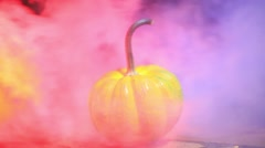 Fog with pumpkin halloween 2 n Stock Footage