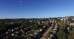 Summertime Aerial of Suburb Stock Footage